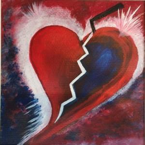 getroffenes Herz